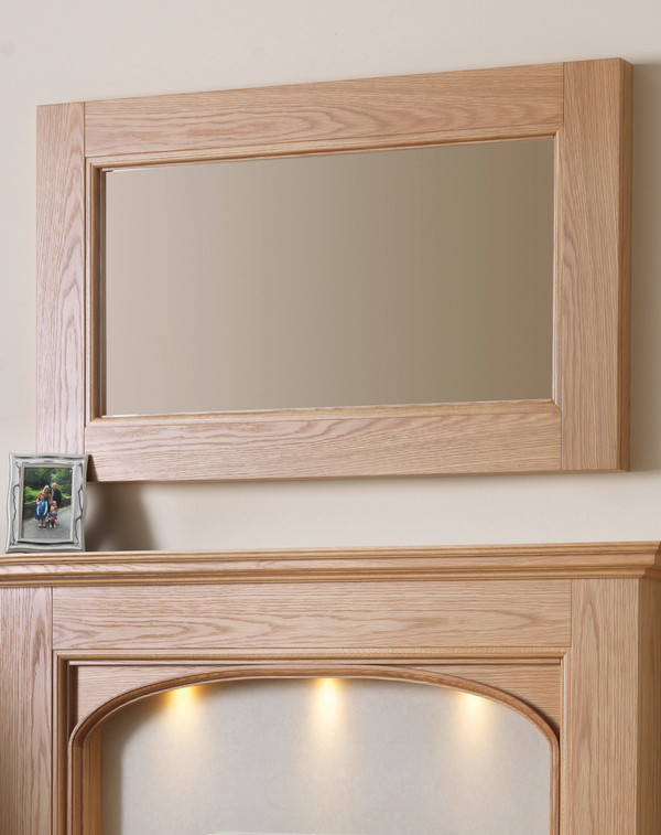 Gladstone  Mirror Shown Here in Clear Oak