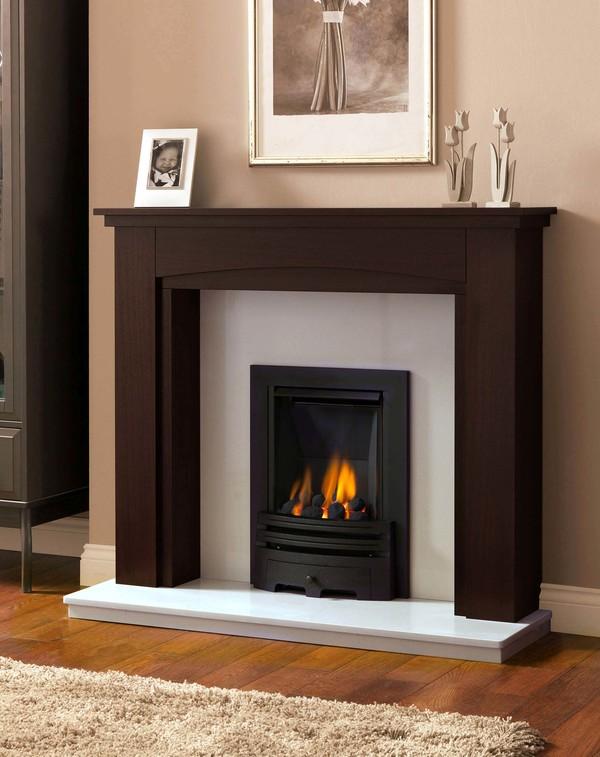 Solid Oak Tiverton Fire Surrounds shown here in Warm Oak