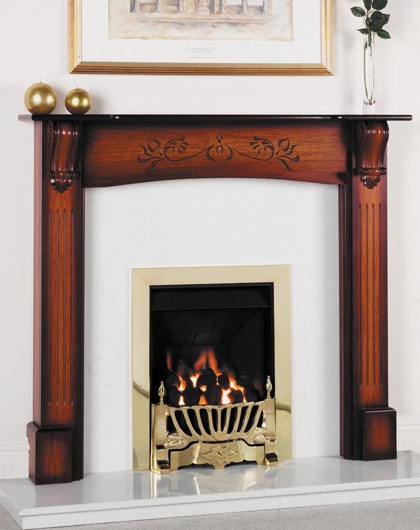 Exmoor fire surround shown here in Vintage Honey Oak