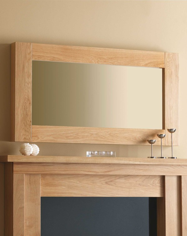 Canberra Mirror Shown Here in Matt Oak