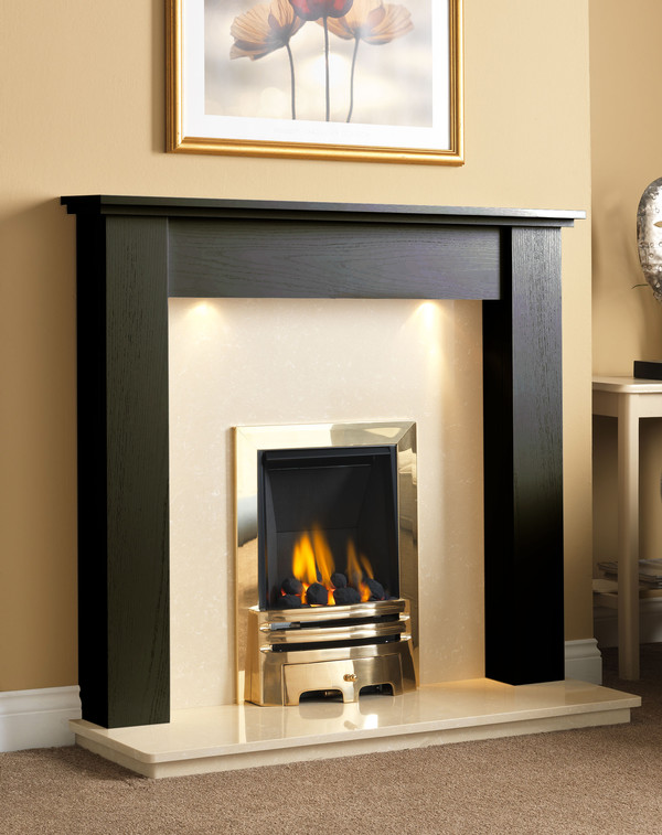 Fire Surround Shown Here Black Oak