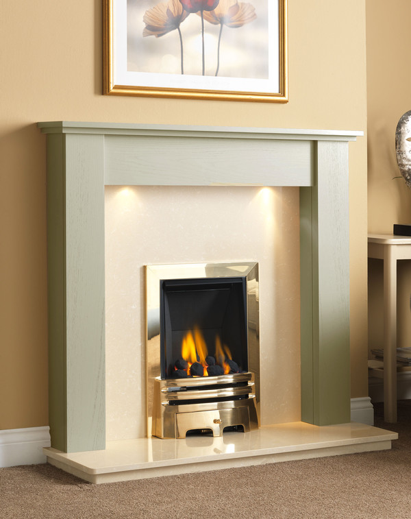 Fire Surround Shown Here Olive