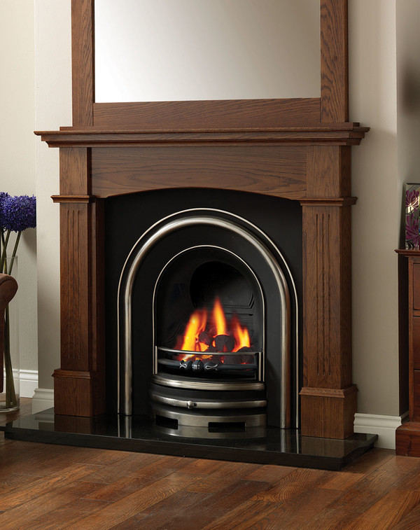 Lancashire Fire Surround Shown Here in Warm Oak