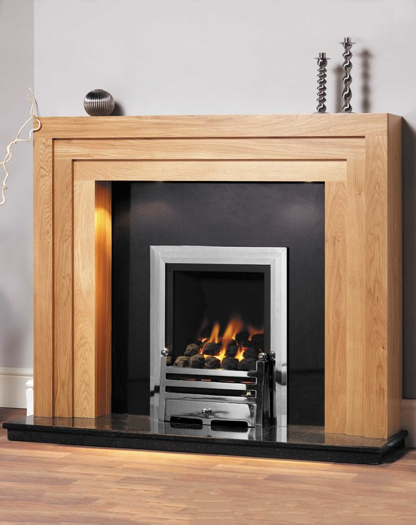 Albany Wood Fire Surround, shown in clear Oak
