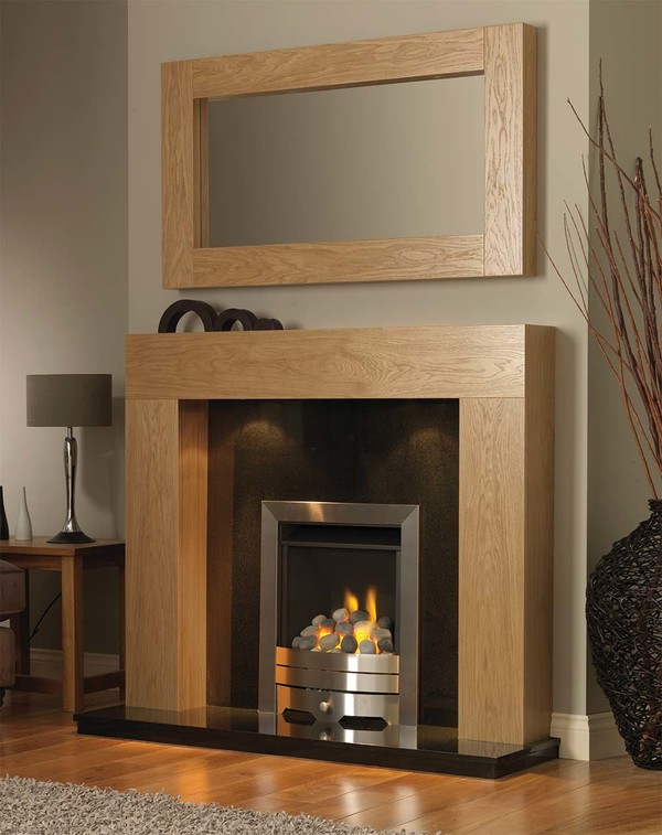 California Fireplace Surround in Clear Oak