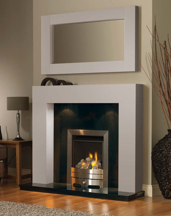 California Fireplace Surround in Mist