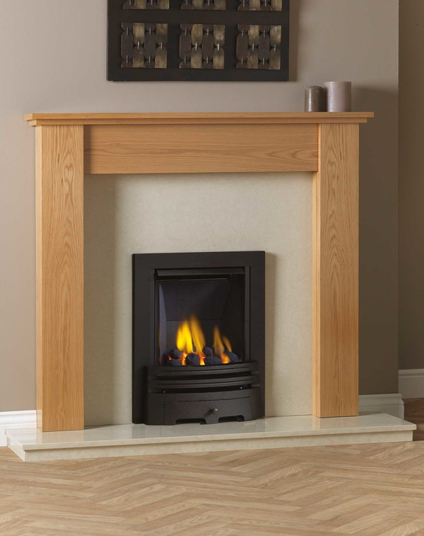 Appleby Complete Package in Clear Oak with Diamond Gas Fire