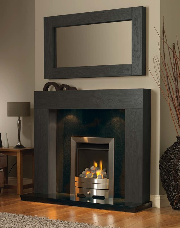 California Fireplace Surround in Wood Grain Slate