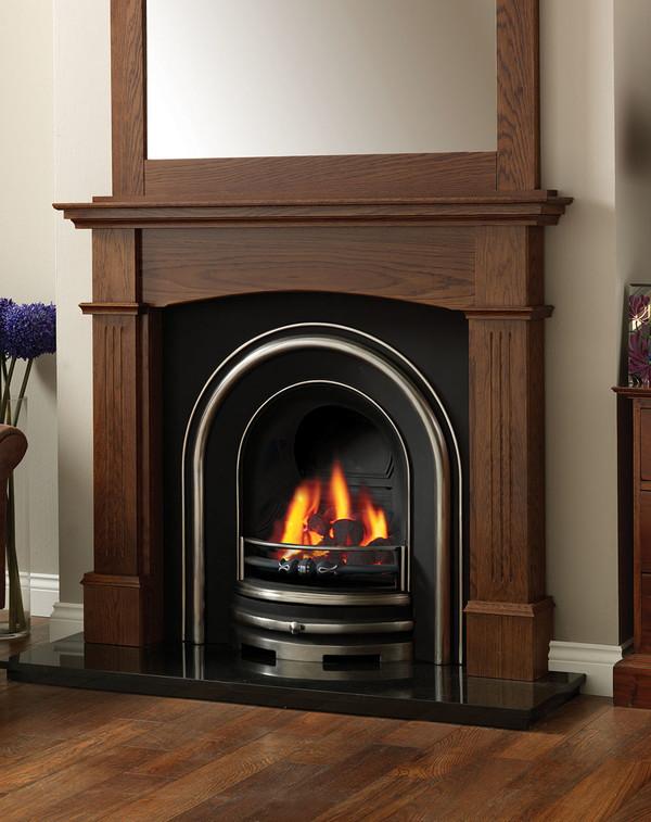 Cherwell fire surround shown here in Warm Oak