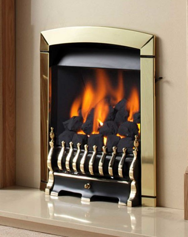 Flavel Calypso Slide Control Inset Gas Fire in Brass