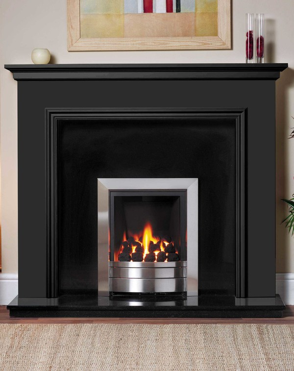Salisbury Fire Surround in Matt Black