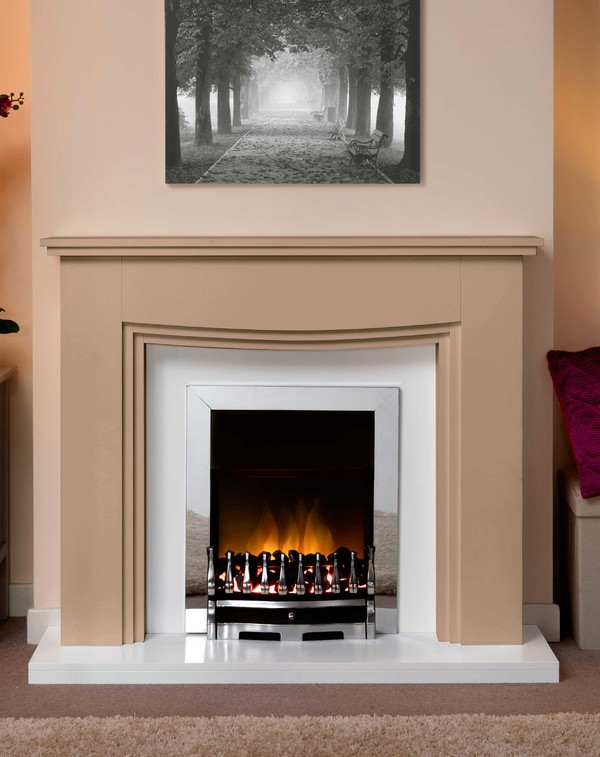 Connecticut Fire Surround In Bespoke Colour Cobweb