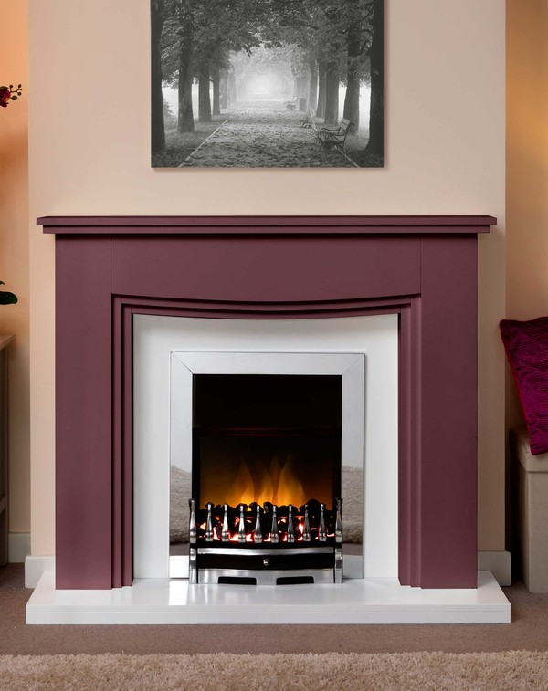 Connecticut Fire Surround In Bespoke Colour Regal Red