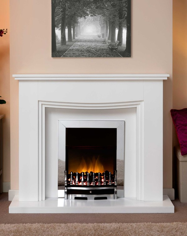 Connecticut Fire Surround In Brilliant White