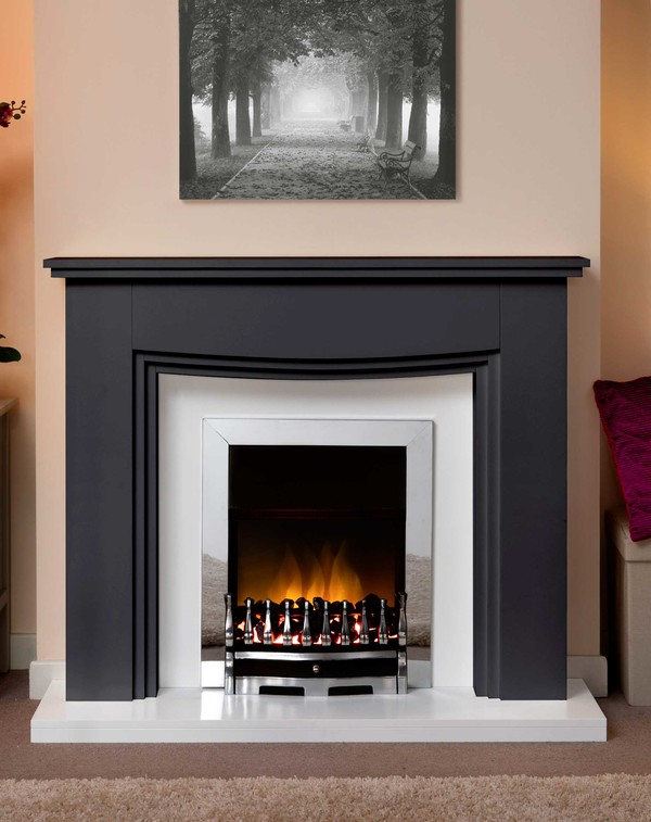 Connecticut Fire Surround In Matt Black