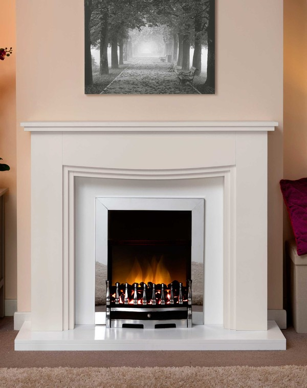 Connecticut Fire Surround In Smooth Mist