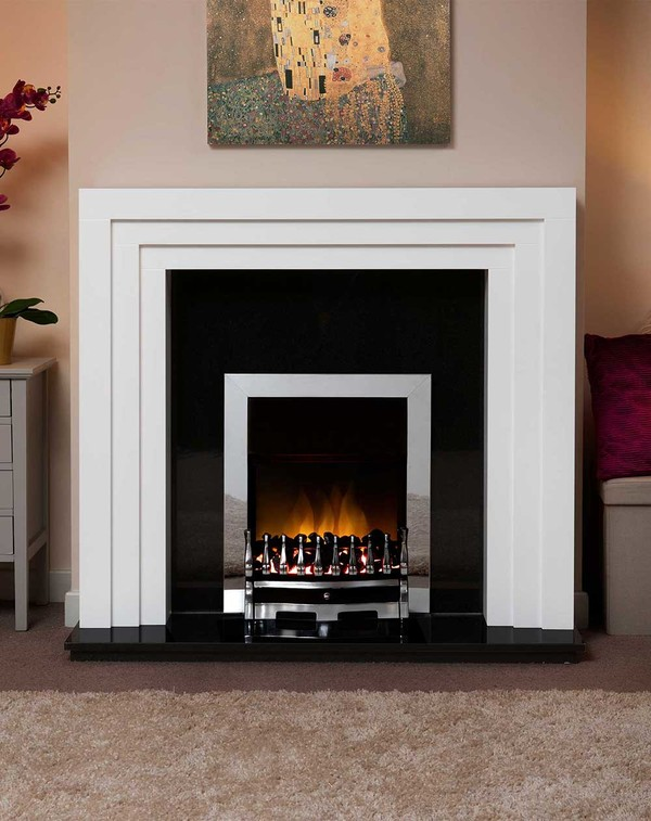Albany Small Fire Surround in Brilliant White