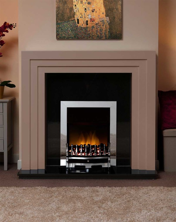 Albany Small Fire Surround in the Bespoke Colour Leather Brown