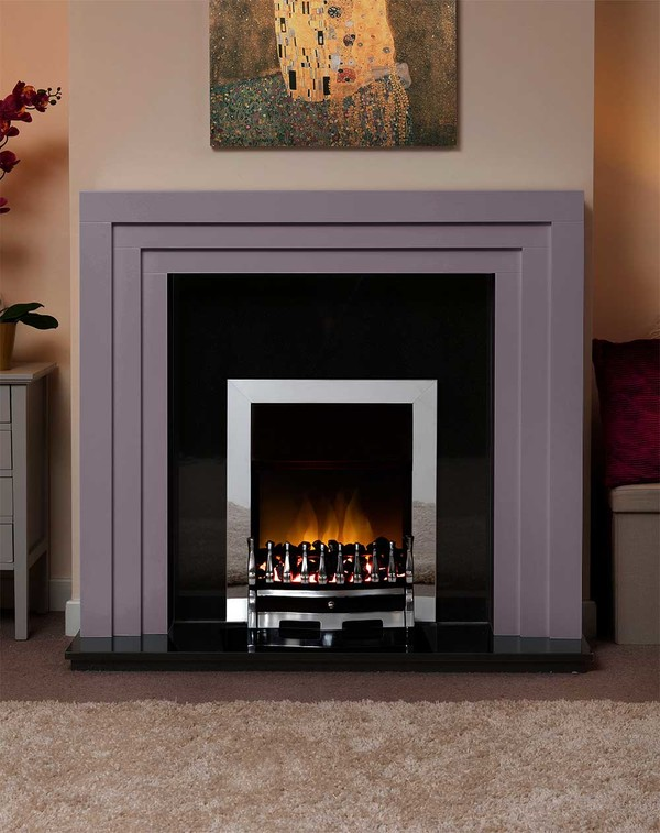 Albany Small Fire Surround in the Bespoke Colour Purple Heather