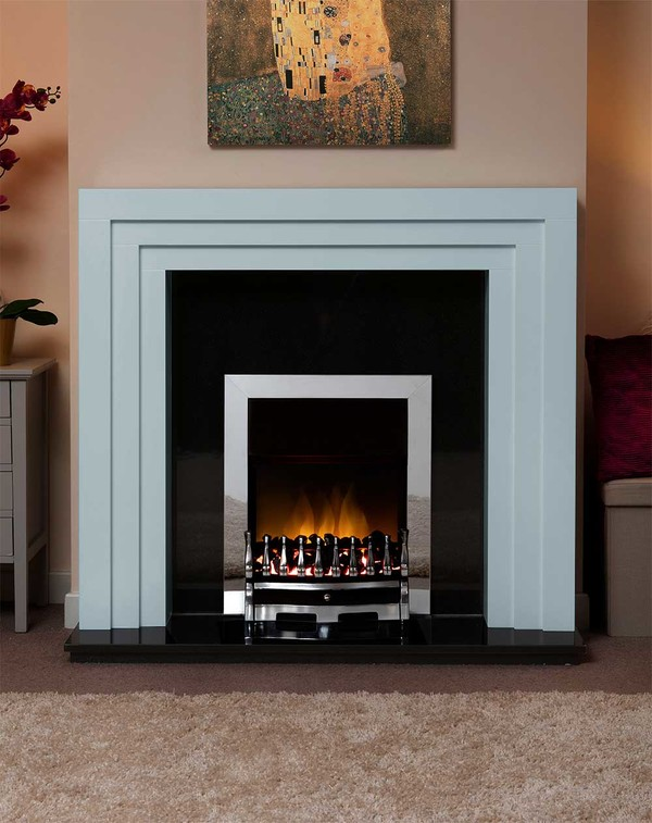 Albany Small Fire Surround in the Bespoke Colour Porcelain Blue