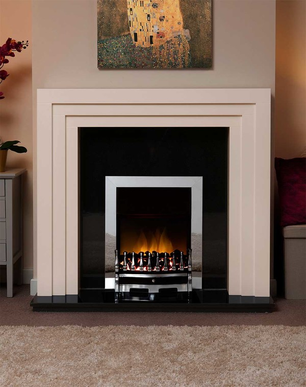 Albany Small Fire Surround in the Bespoke Colour Zepher