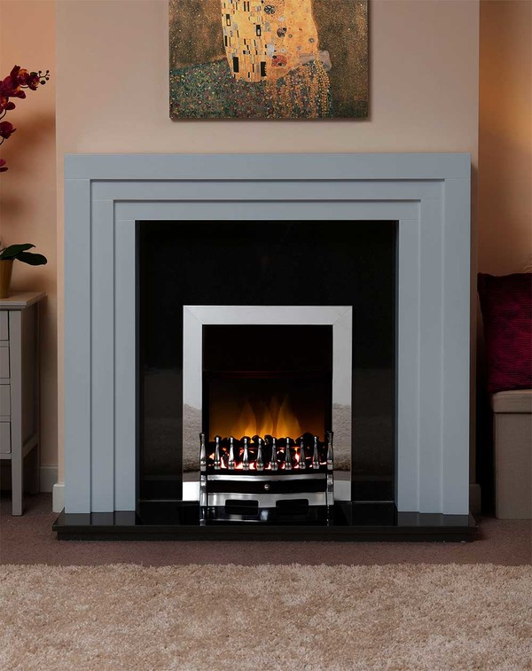 Albany Small Fire Surround in Smooth Cloud