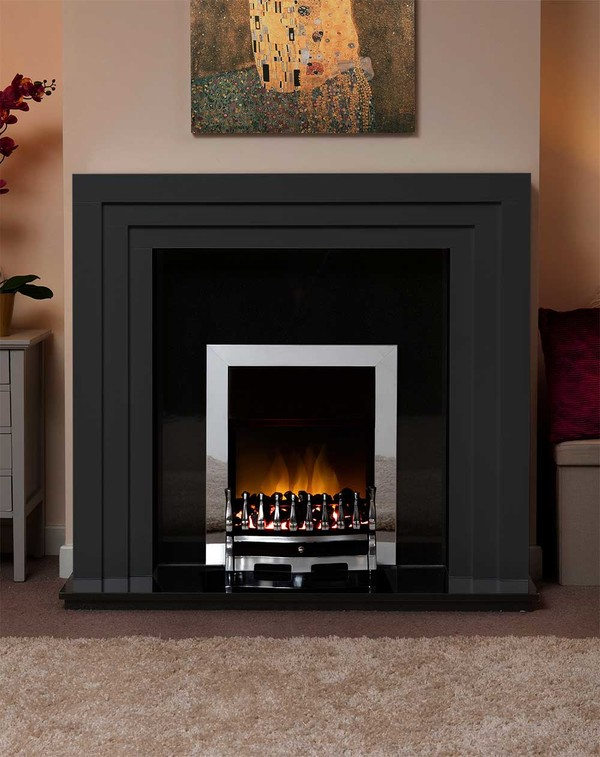 Albany Small Fire Surround in Matt Black