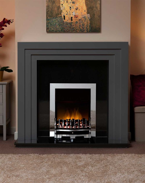 Albany Small Fire Surround in Smooth Slate