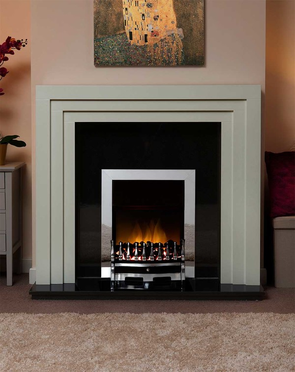 Albany Small Fire Surround in Smooth Olive