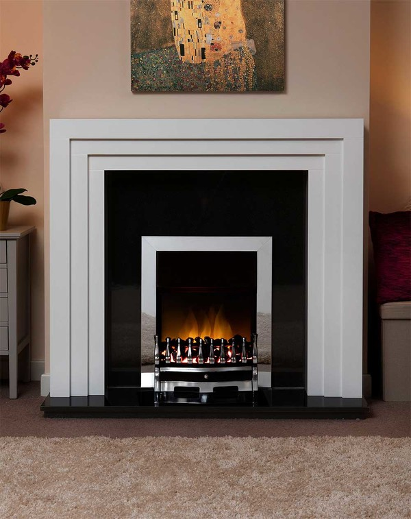Albany Small Fire Surround in Smooth Mist