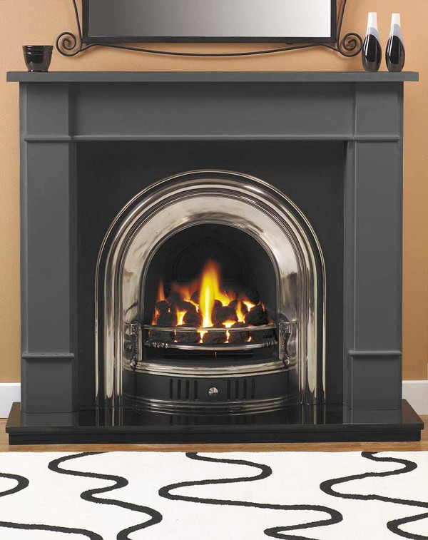Carlow Fire Surround Shown Here in Smooth Slate