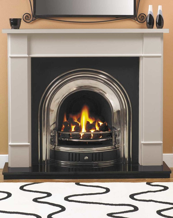 Carlow Fire Surround Shown Here in Smooth Mist