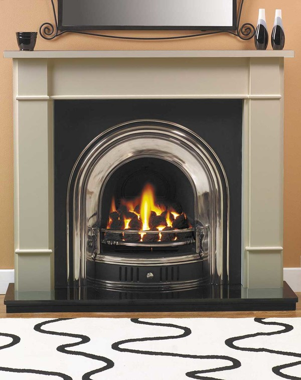 Carlow Fire Surround shown here in Smooth Olive