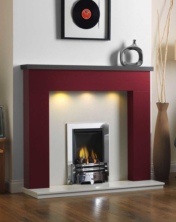Ascari Fire Surround in the Bespoke Colour Russet