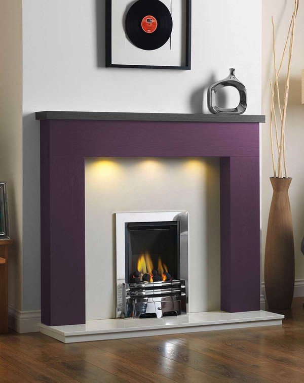 Ascari Fire Surround in the Bespoke Colour Nightshade