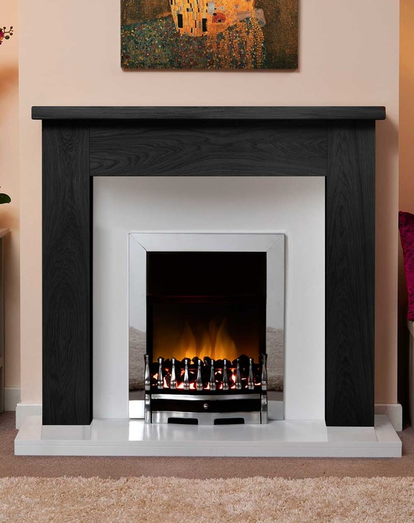 Small Charnwood Fire Surround Shown Here in Black Oak