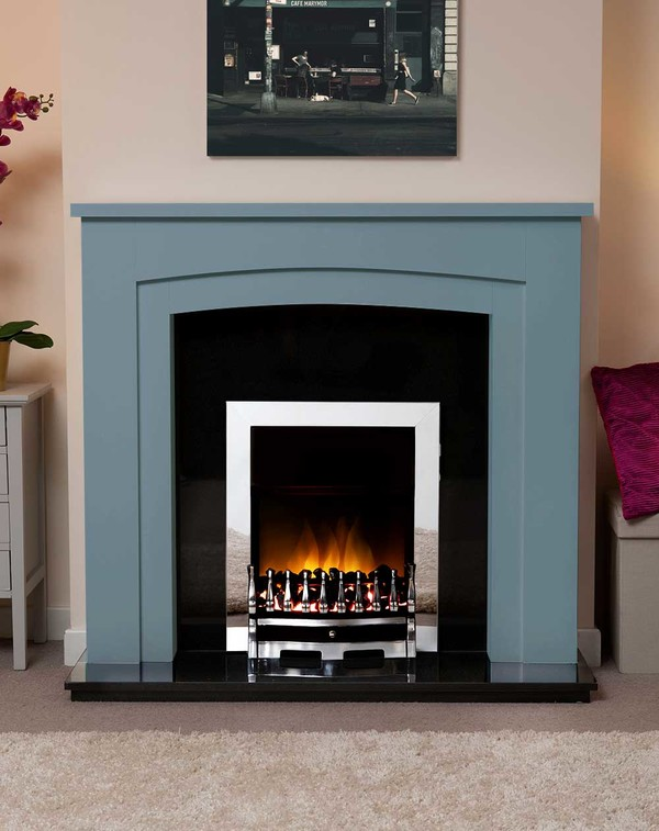 Newark Arch Electric Suite in the Bespoke Colour Dresden Blue