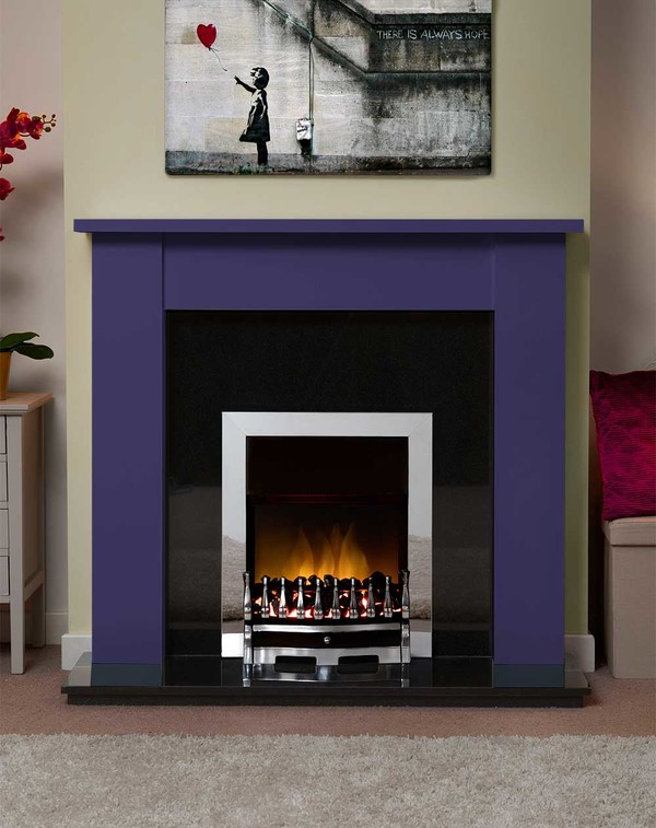 Jersey Fire Surround in the Bespoke Colour in Aircraft Blue