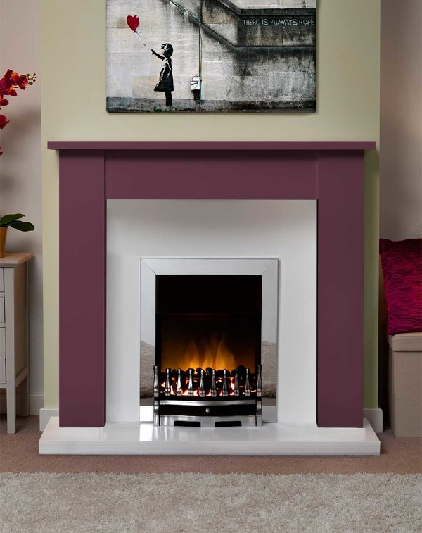 Jersey Fire Surround in the Bespoke Colour Ruby