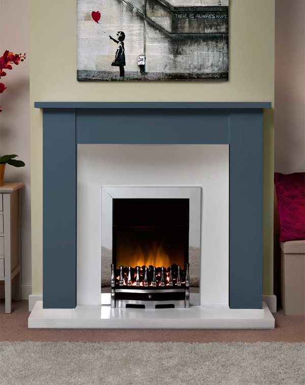 Jersey Fire Surround in the Bespoke Colour Fathom Blue