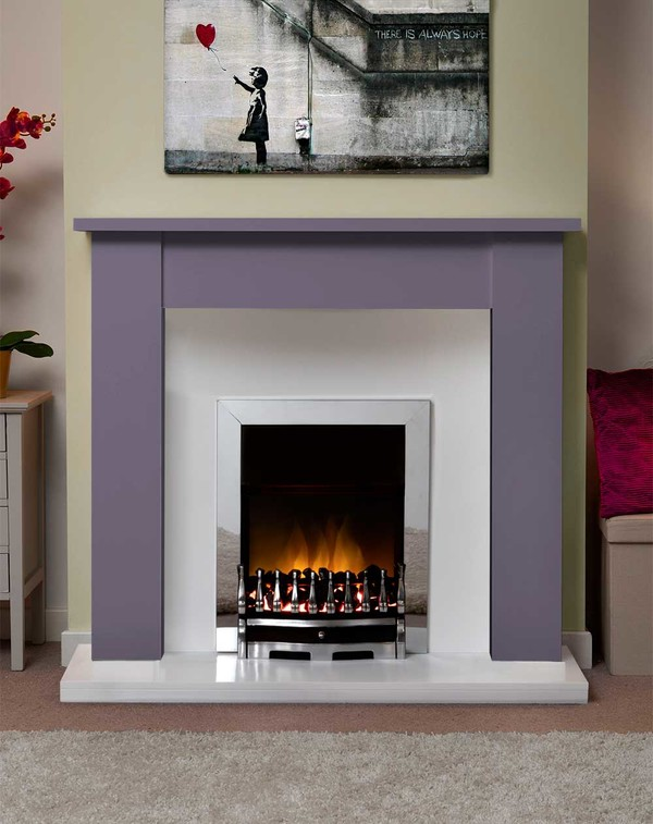 Jersey Fire Surround in the Bespoke Colour Purple Heather