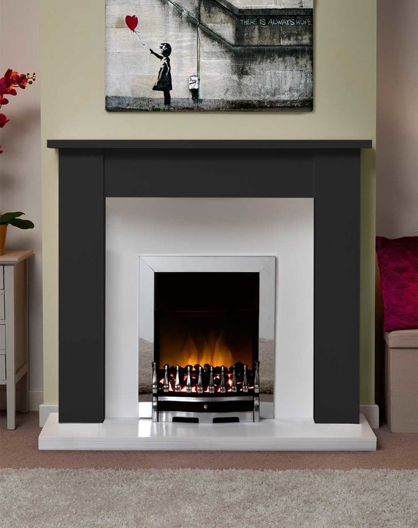 Jersey Fire Surround in Matt Black