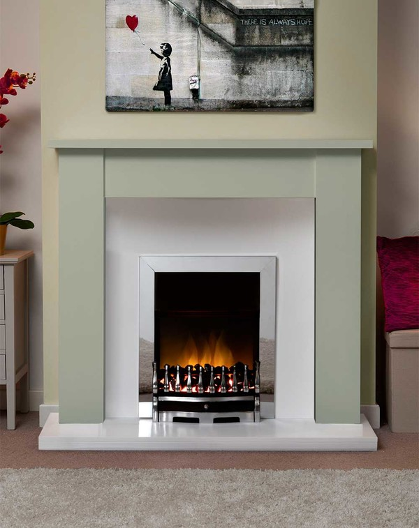 Jersey Fire Surround in Smooth Olive