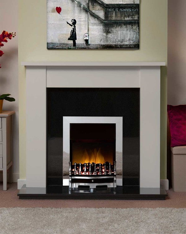 Jersey Fire Surround in Smooth Mist