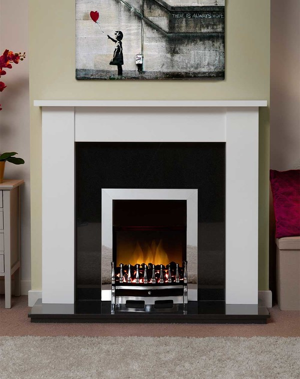 Jersey Fire Surround in Brilliant White