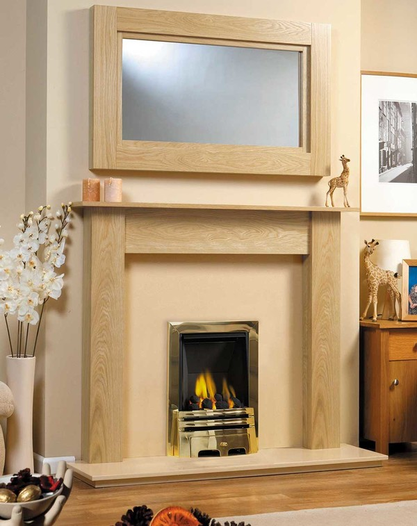 Atlanta Fire Surround, Shown here in Clear Oak