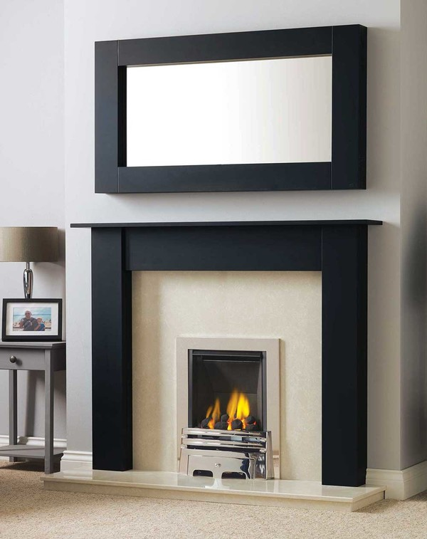 Atlanta Fire Surround in Matt Black