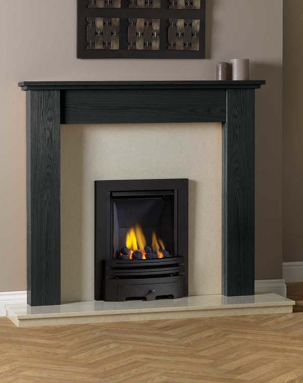 Appleby Fire Surround Shown in Wood Grain Slate