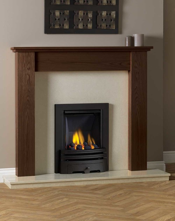 Appleby Fire Surround shown here in Warm Oak