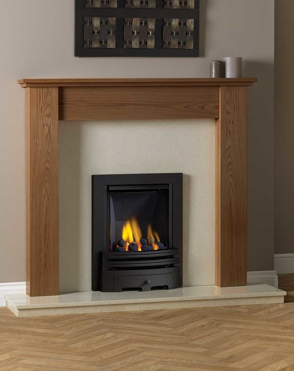Appleby Fire Surround shown here in Medium Oak
